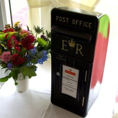 Black Wedding postbox