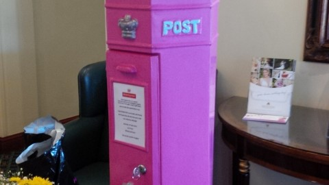 Pink Penfold postbox