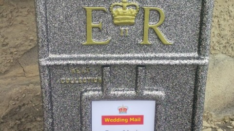 Silver Bling postbox