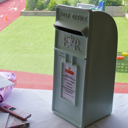 Mint green Wedding postbox