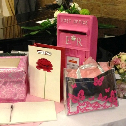 Pink Wedding postbox