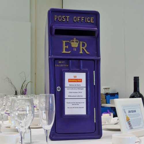 Purple Wedding postbox