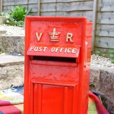 Red VR style postbox