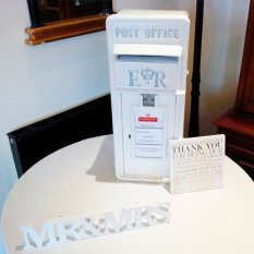 White Wedding postbox