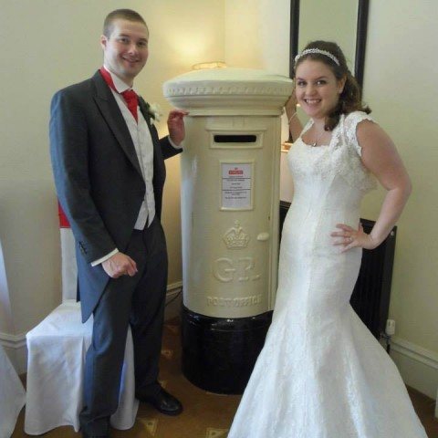 Ivory pillarbox Shottle Hall Wedding