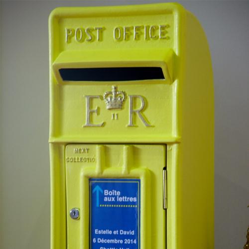 Lemon Yellow postbox