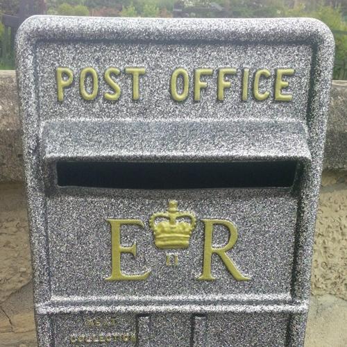 Silver Wedding postbox